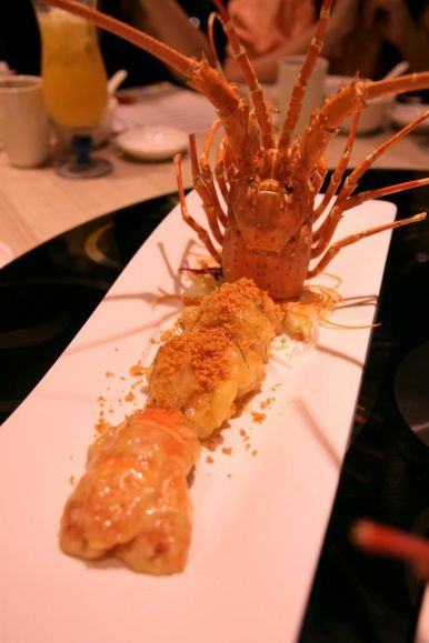 Deep Fried Spiny Lobster Salad.