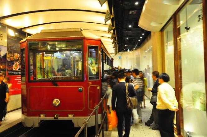 The Peak Tram.