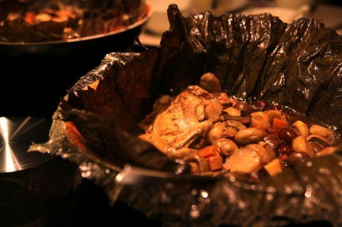 Braised Treasure Chicken in Lotus Leaf.