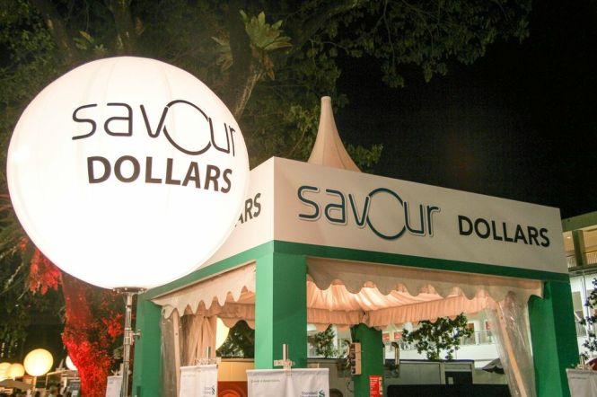 SAVOUR Dollars Booth.