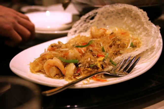 Stir Fried Vermicelli with Seafood