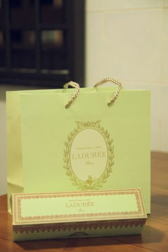Ladurée Singapore Macarons Packaging.
