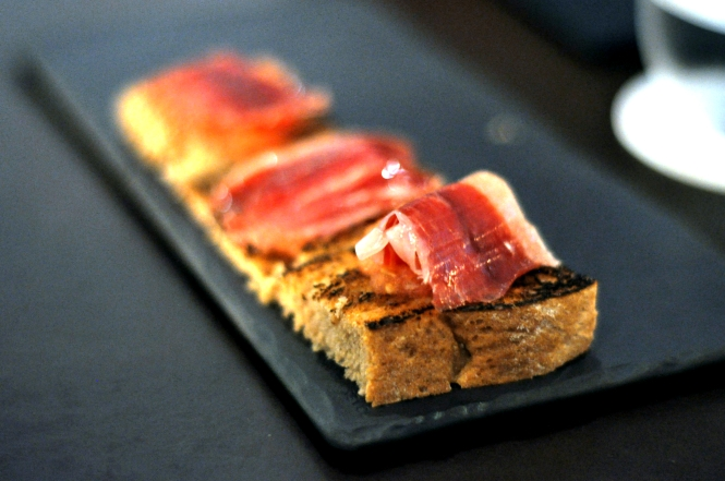 Appetizer - Spanish Ham with Country Toast.