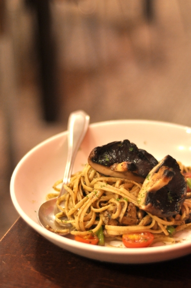 Truffle-some Shrooms Pesto Pasta :: $23.50