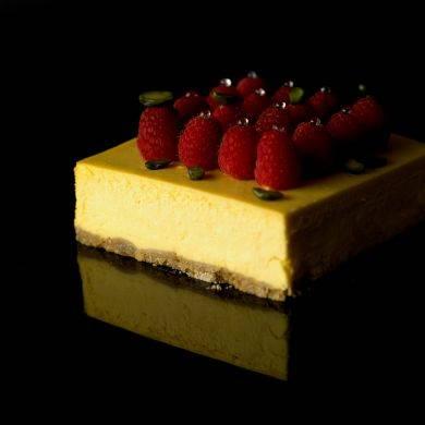 Obolo's Mango Passion Cheesecake (SGD27.39): sweetness from the mangoes and tartness from the passionfruit combines.