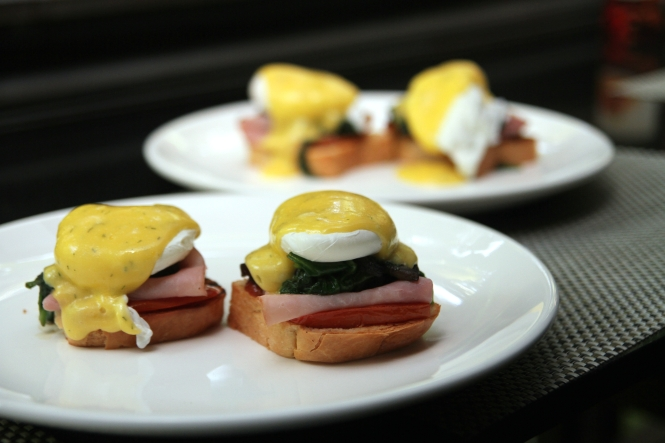 Poached Eggs on Brioche :: $22++