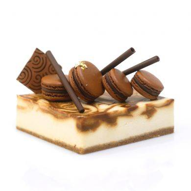Obolo's Salted Caramel Cheesecake (SGD27.39): concoction that balances sweet and savory inside.