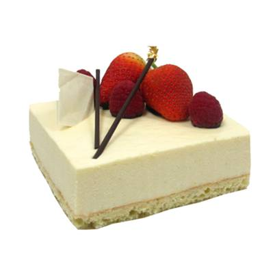 Obolo's Yuzu Cheesecake (SGD27.39): blended in the right proportion with light & smooth cream cheese mousse & fluffy vanilla sponge.