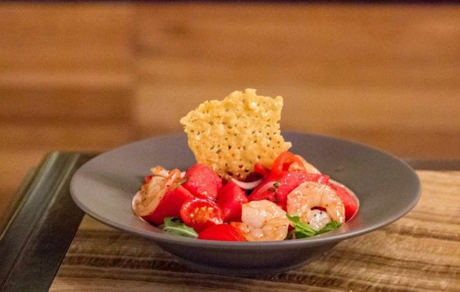 Watermelon & Tomato Salad (with prawns) :: $24++