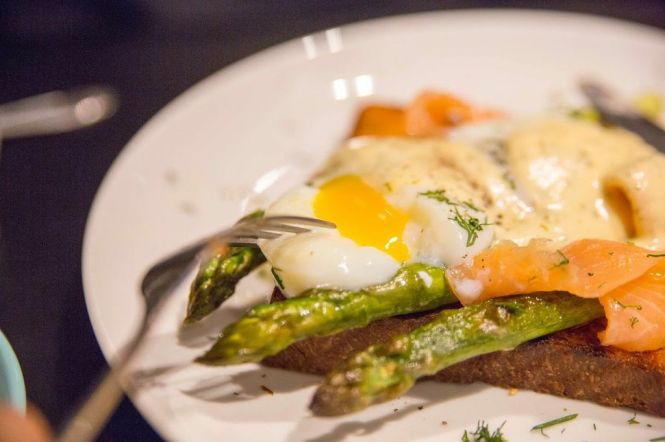 63º Eggs with Dressed Smoked Salmon :: $18.50