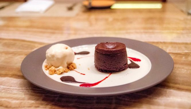 Warm Dark Chocolate Cake :: $14++