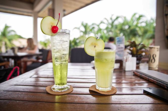 Mocktails, a must at a Beach Resort.