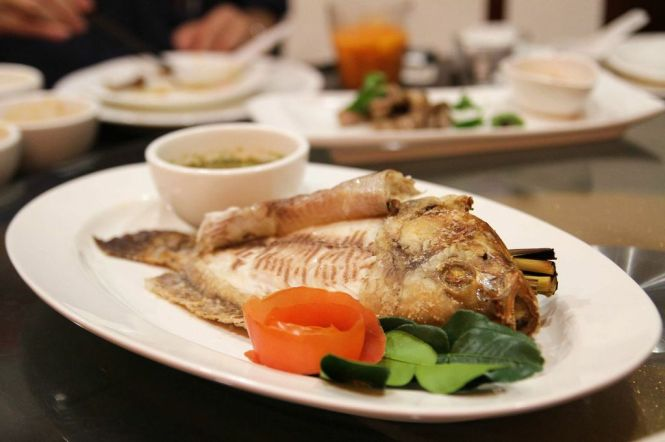 Pla Nin Pao. Salt-baked Whole Tilapia :: $22.80