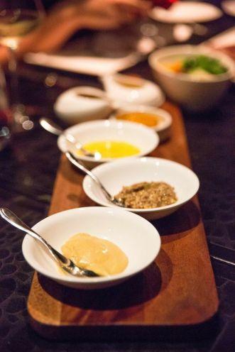 Condiments :: Foie Gras Sauce | Morel Sauce | Café de Paris Butter | Bearnaise Sauce | Dijon & Grain Mustard