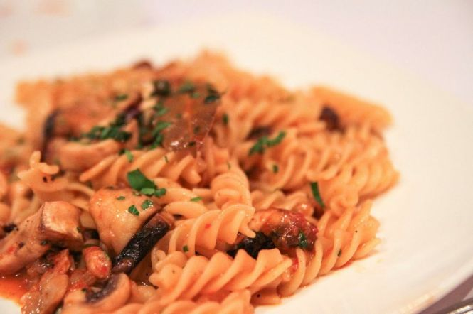Fusilli Alla Boscaiola. Fusilli Pasta with Mixed Wild Mushrooms :: $20++