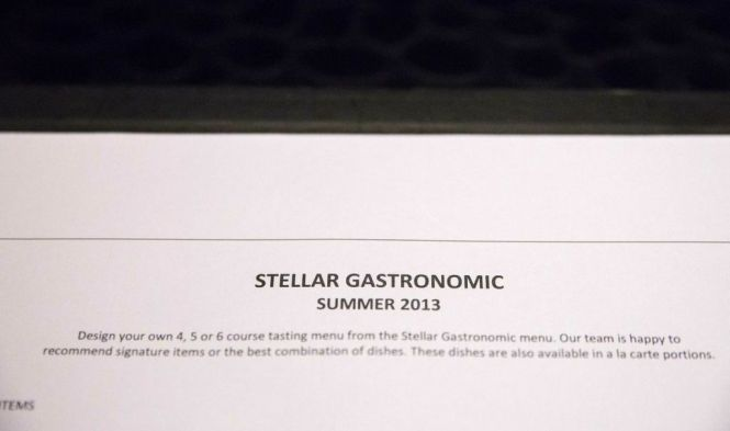 Stellar Gastronomic Summer Menu 2013.