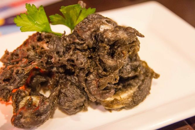 Squid-ink Coated Calamari :: $16