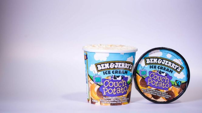 Ben & Jerry's Couch Potato Ice Cream.