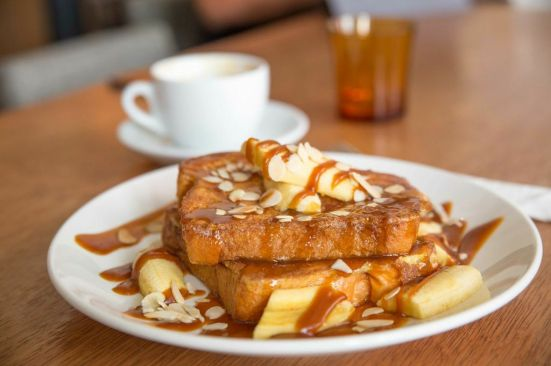 French Toast with Butterscotch Sauce :: $11