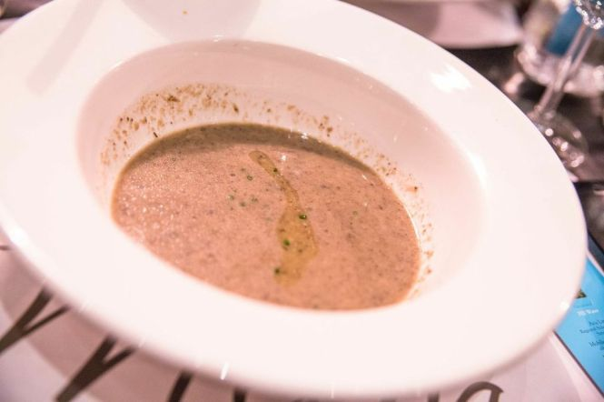 Wild Mushroom Soup with Truffle Oil.