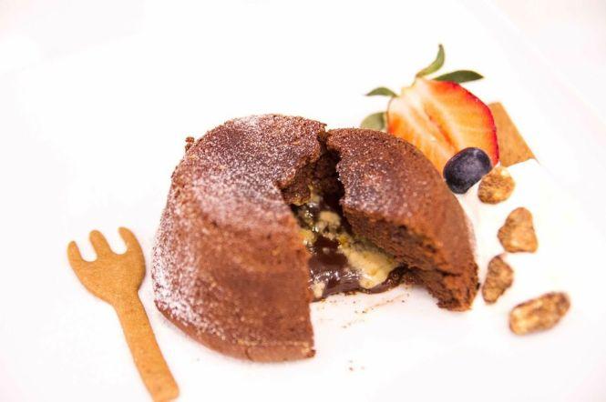 Salted Caramel Lava Chocolate Cake :: $6.90++