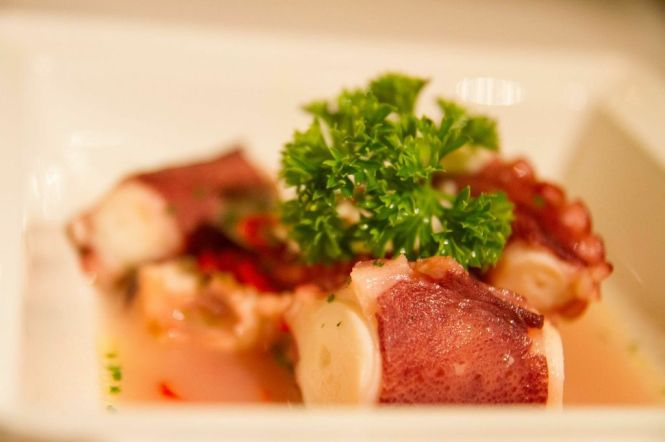 Naples-style Warm Spicy Octopus Salad :: $26++