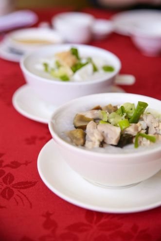 Chicken & Century Egg Congee.
