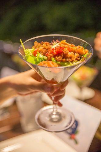 Thai Styled Chicken Strips Salad.