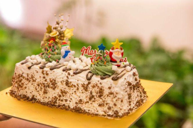 Christmas Star Layered Log Cake :: $58.80