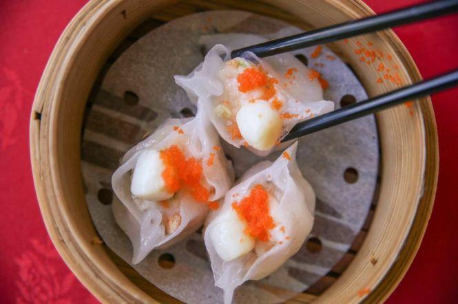 Scallop & Asparagus Dumpling.