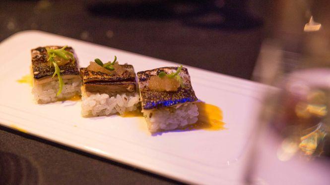 Appetizer: Sanma Sushi.