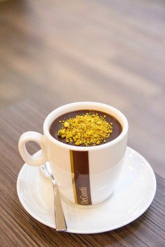 Hot Chocolate with Chopped Pistachio :: $5.50