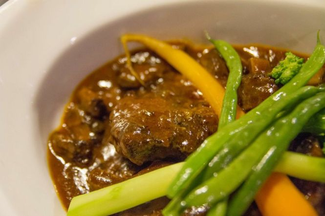 Oxtail with Guinness Stout & Espagnole Sauce.