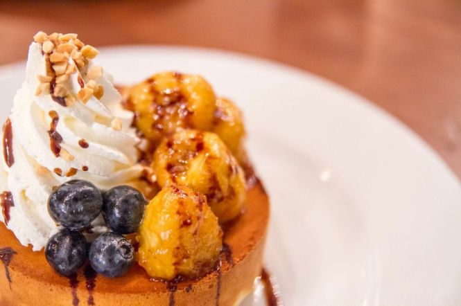 Caramelized Banana Pancake :: $13.80++
