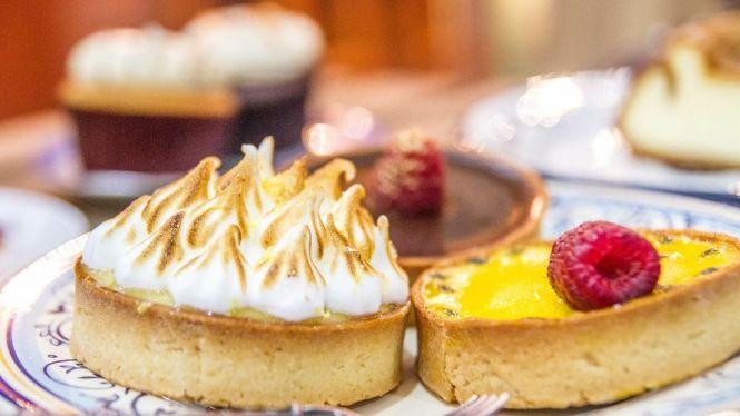 Lemon Meringue Tart :: $ Passionfruit Raspberry Tart ::  Belgian Belcolade Chocolate Tart :: $