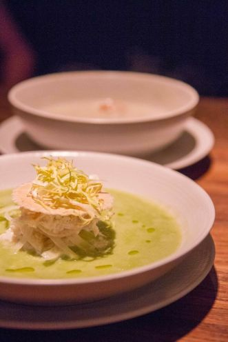 Crab Salad with Chilled Pea Soup :: $15++