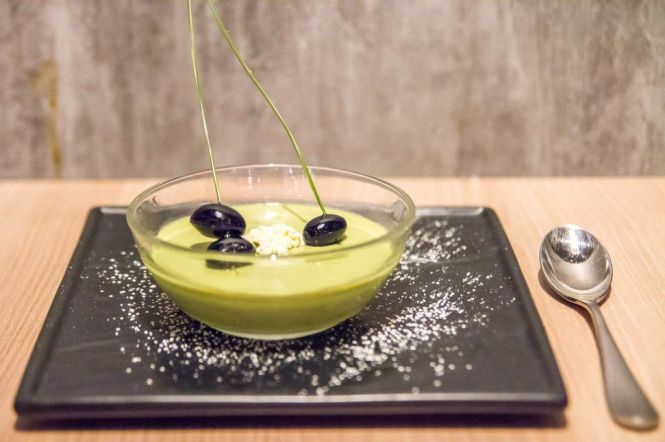 Green Tea Mousse with Yuzu Sauce :: $12++