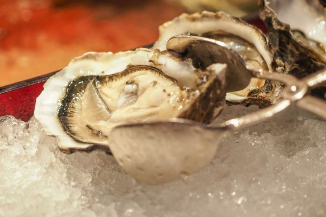 Freshly Shucked Oysters from Cadoret, France.