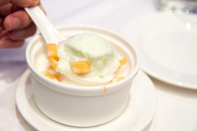 Chilled Honey Dew Sago.