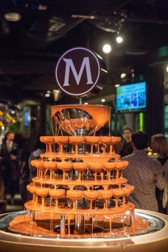 Largest Chocolate Fountain in Singapore, by MAGNUM.