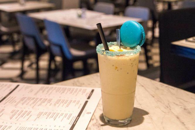 Salted Caramel & Toffee Popcorn Macaron Milkshake :: $8++