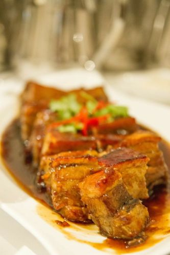 "Braised Pork Rib with ""Zhen jiang"" Vinegar."