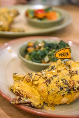 1/4 Chicken (with 1 Fino side) :: $13.90