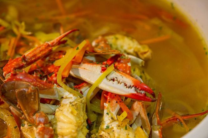 Crab Bouillabaisse with Fennel and Pernod.