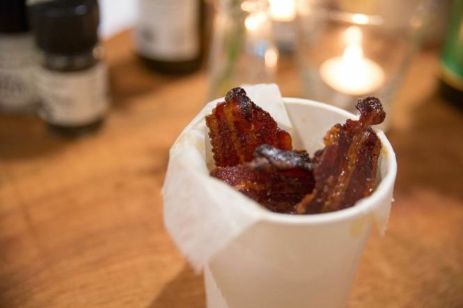 Paprika Candied Bacon Chips :: $6++
