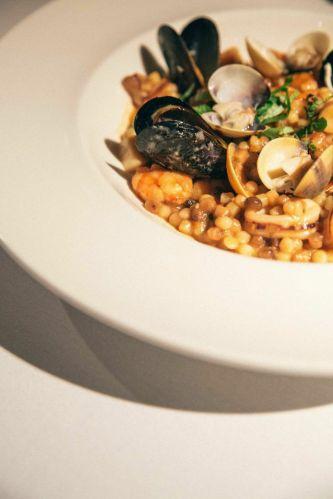 Sardinian Fregola with Assorted Seafood :: $28++