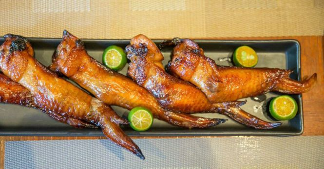 BBQ Chicken Wings :: $24++/6pieces