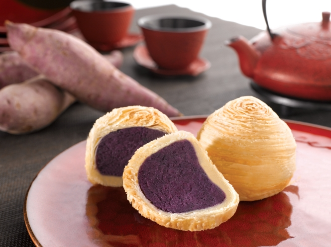 Purple Sweet Potato Mooncake :: $48/box of 4