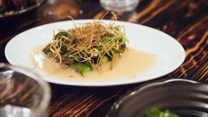 Asparagus in Garlic Miso :: $14++