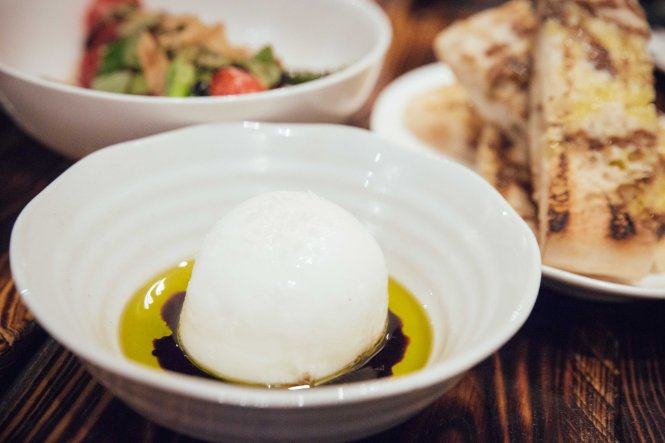 Burratina :: $18++ Turkish Bread :: $8++ Grilled Vine Tomatoes :: $14++
